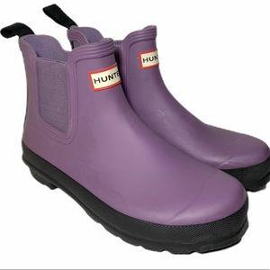 Hunter Chelsea Ankle Rain Boot lilac purple